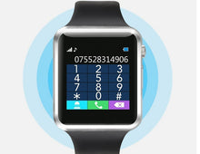 Smart Watch for Android or IOS Sport Pedometer, SIM, Camera and more!