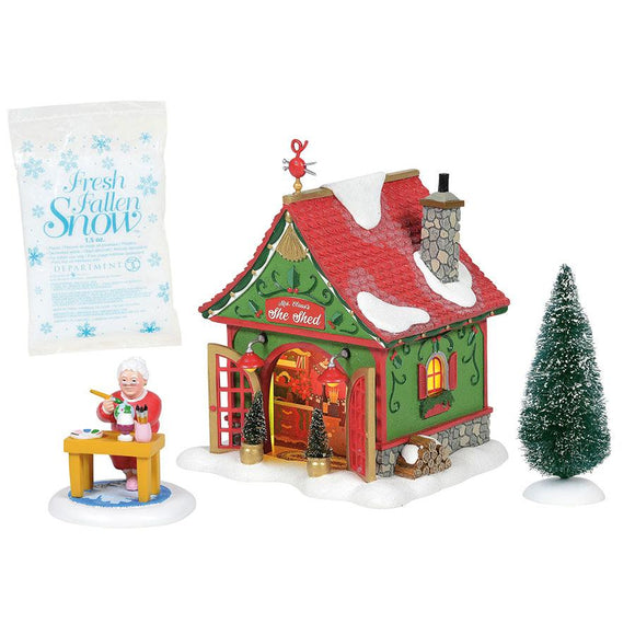 Department 56 North Pole Mrs. Claus's She Shed