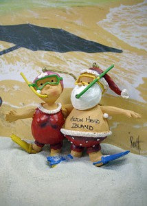Hilton Head Mr. & Mrs. Claus Snorkel Ornament