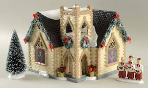 Department 56 Snow Village Golden Cross Church Gift Set