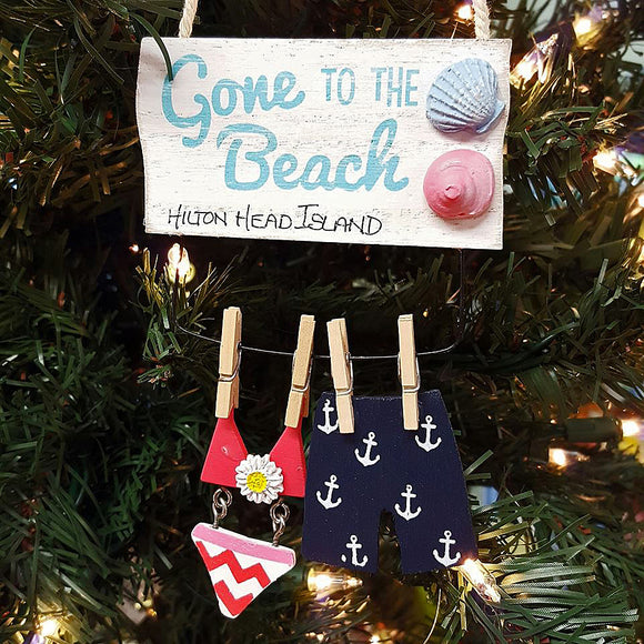 Christmas Gone to the Beach Hilton Head Ornament