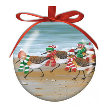 Hilton Head Ornament Christmas Sandpipers