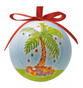 Hilton Head Ornament Decorated Palm Tree