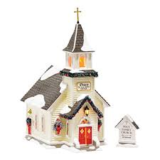 Department 56 Snow Village Holy Family Church