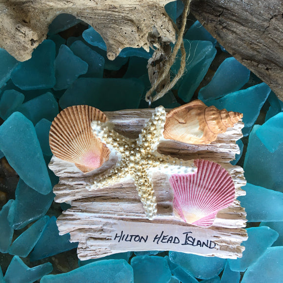 Driftwood with Shells Ornament