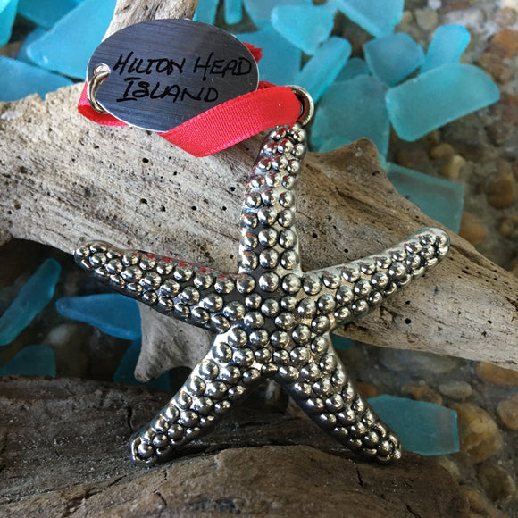 Cast Metal Starfish Ornament