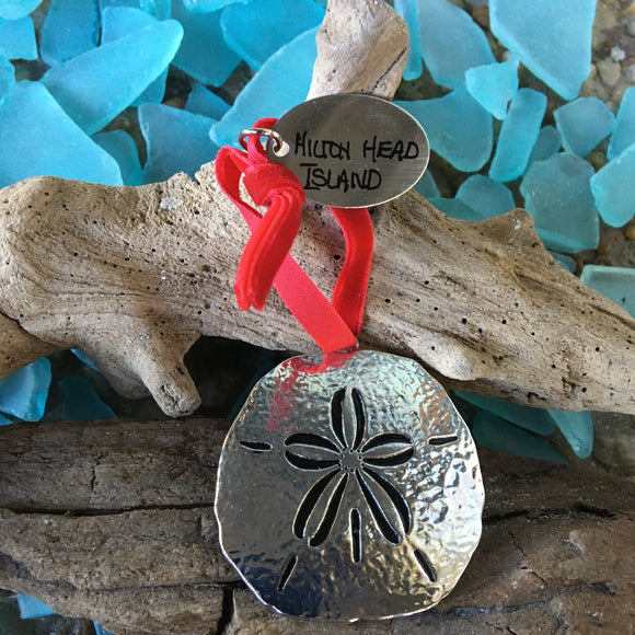 Cast Metal Sand Dollar Ornament