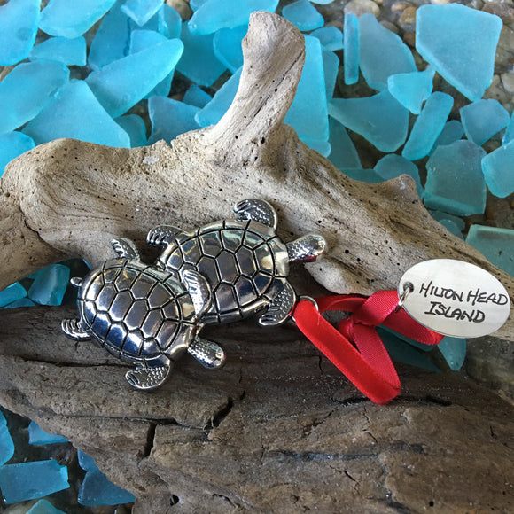 Cast Metal Turtle Ornament