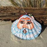 Hand-painted Santa Shell Ornament