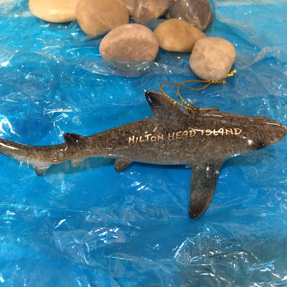 Hi - Gloss Resin Shark Ornament