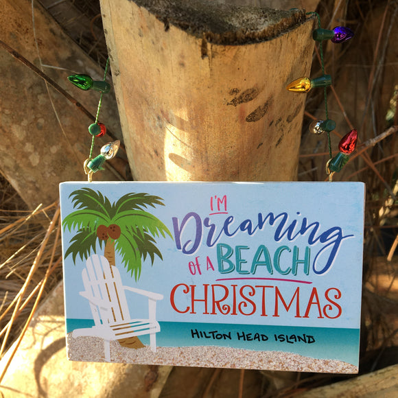Dreaming of a Beach Christmas Ornament