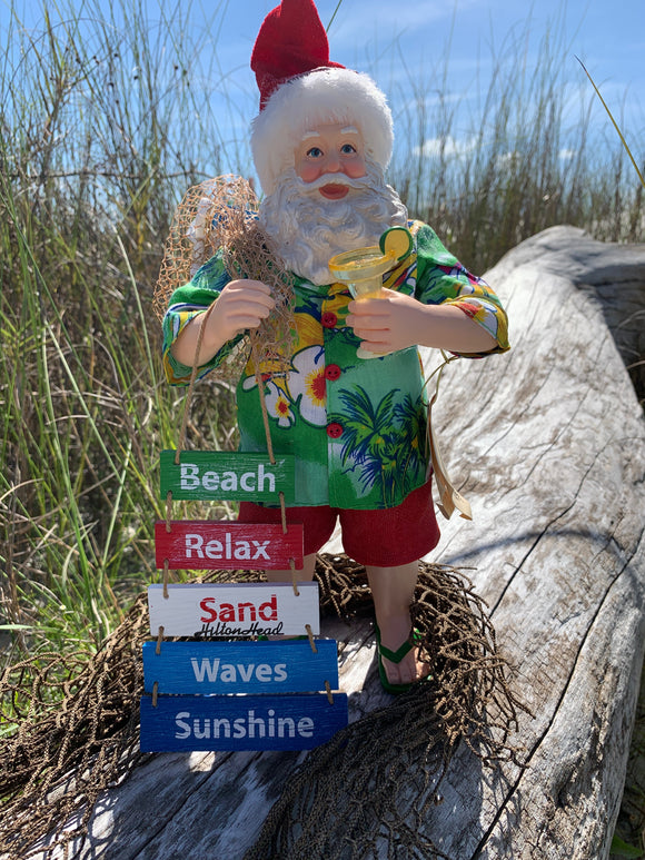 Beach Santa with Sign