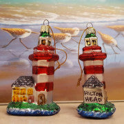 Hilton Head Island Glass Lighthouse Ornament