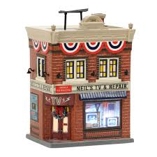 Department 56 Snow Village Neil's TV & Repair