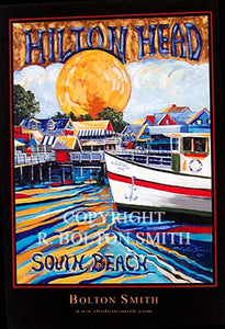 """Hilton Head South Beach Marina"" by Bolton Smith Art Prints"