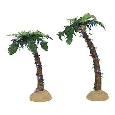 Department 56 Accessory Lit Palm Trees Set of 2