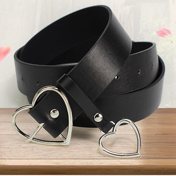 LEATHER HEART BELT