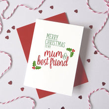 Load image into Gallery viewer, Personalised Best Friend Christmas Card