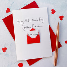 Load image into Gallery viewer, Personalised Together Forever Valentine's Envelope Card