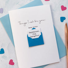Load image into Gallery viewer, Personalised New Baby Wishes Envelope Card