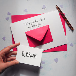 Personalised X Large Days You've Been My Mum/Dad Envelope Card