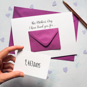 Personalised X Large Mother's Day Envelope Card