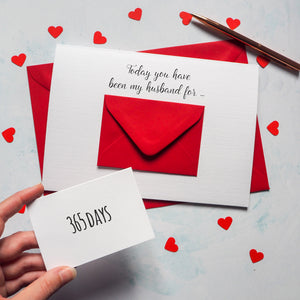 Personalised X Large Husband/Wife Days Envelope Card