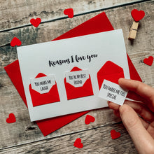 Load image into Gallery viewer, Personalised Reasons I Love You Mini Envelope Card