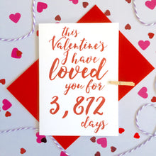 Load image into Gallery viewer, Personalised Valentine's Days Loved Calligraphy Card