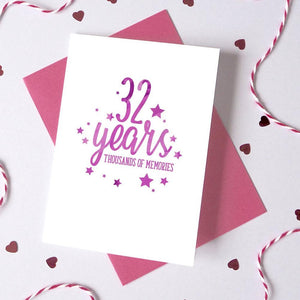Personalised Memories Anniversary/Birthday Card