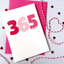 Load image into Gallery viewer, Personalised Days Of Love Number Card