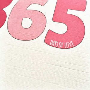 Personalised Days Of Love Number Card