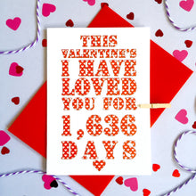 Load image into Gallery viewer, Personalised Valentine's Days Card