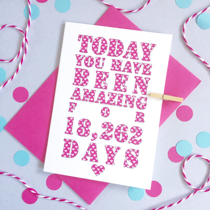 Personalised Days You've Been Amazing Card