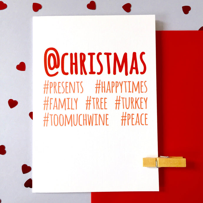 Personalised Christmas #Hashtag Social Media Card