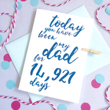 Load image into Gallery viewer, Personalised Calligraphy Dad/Daddy Days Card