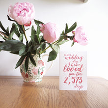 Load image into Gallery viewer, Personalised Wedding Days I've Loved You Card