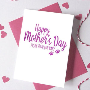 Personalised From Your Fur Baby Mother's Day Card