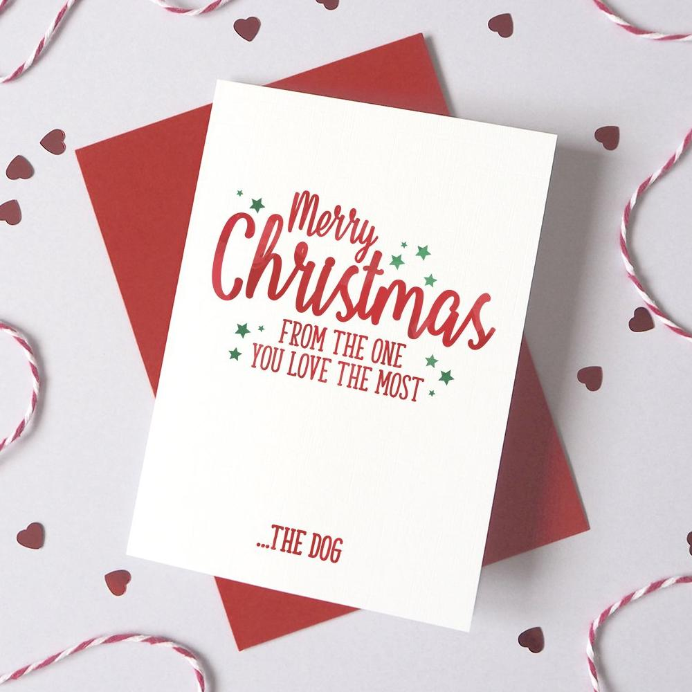 Personalised Christmas One You Love The Most Card
