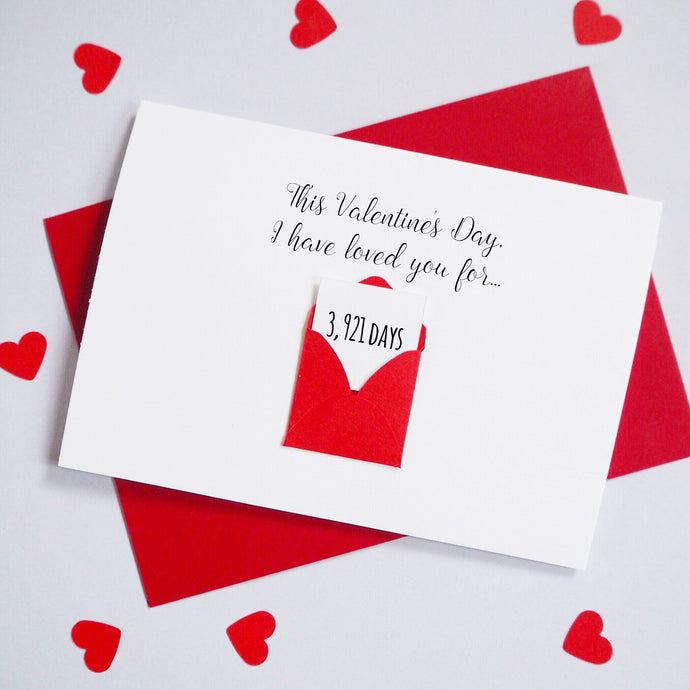 Personalised This Valentine's Days Envelope Card