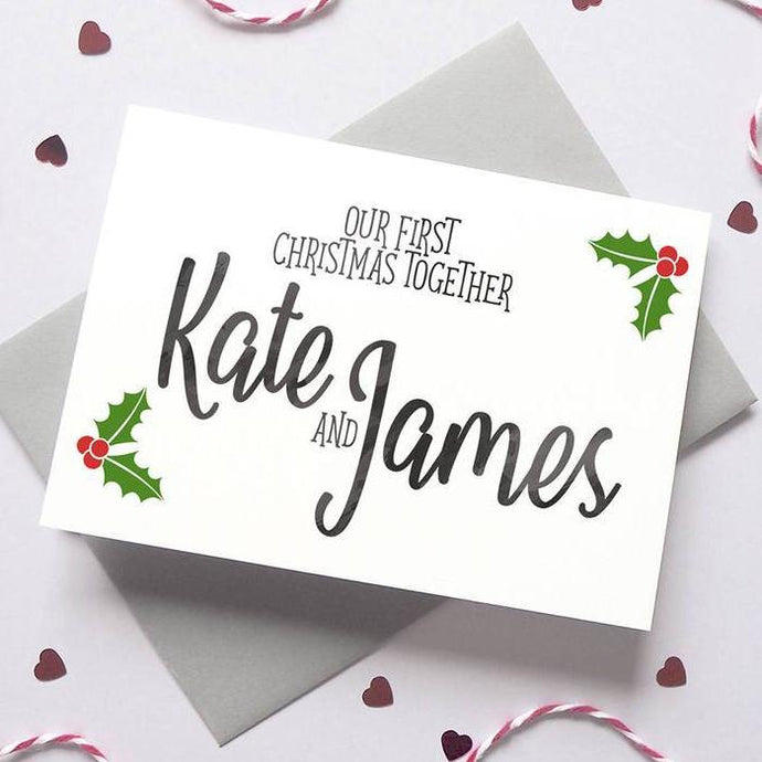 Personalised First Christmas Boyfriend/Girlfriend Card
