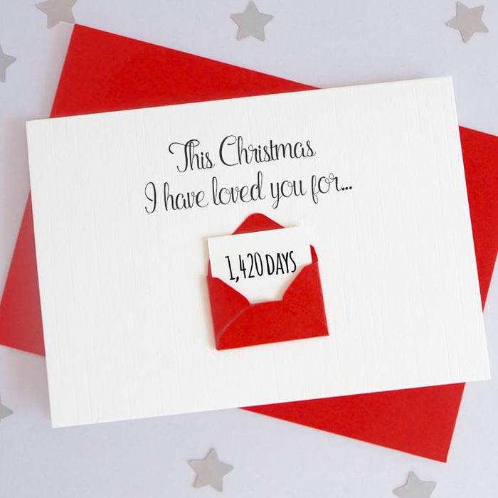 Personalised Christmas Days Envelope Card