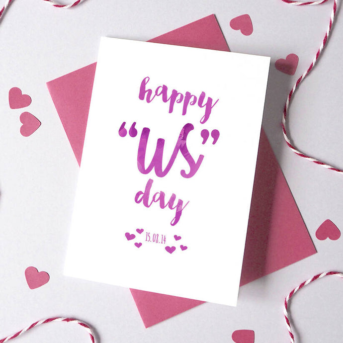 Personalised Happy 'Us' Day Anniversary Card
