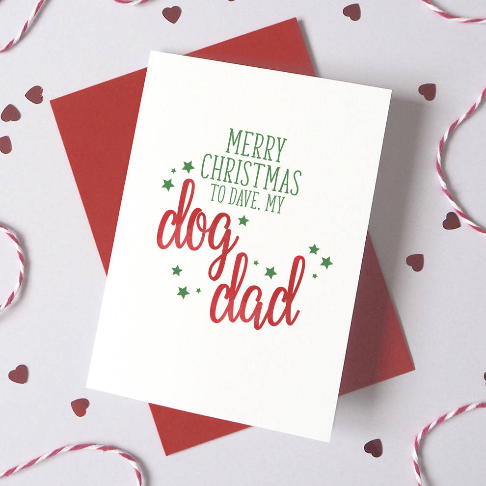 Personalised Pet Parent Christmas Card