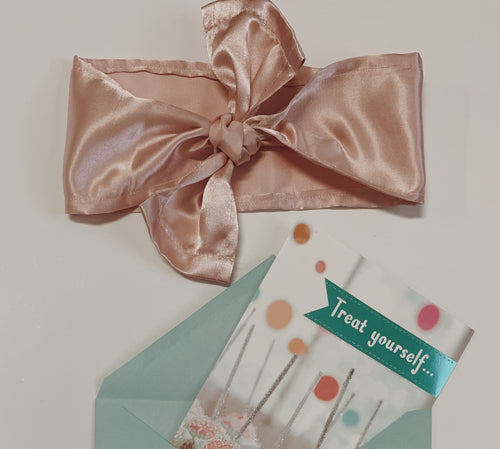 Hair Scarf in Blush Birthday