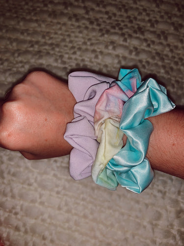 Cotton Candy Simple Scrunchie Bundle