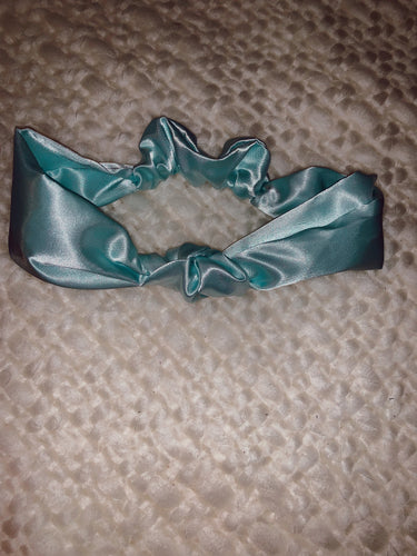 Knotted Headband in Blue Frost