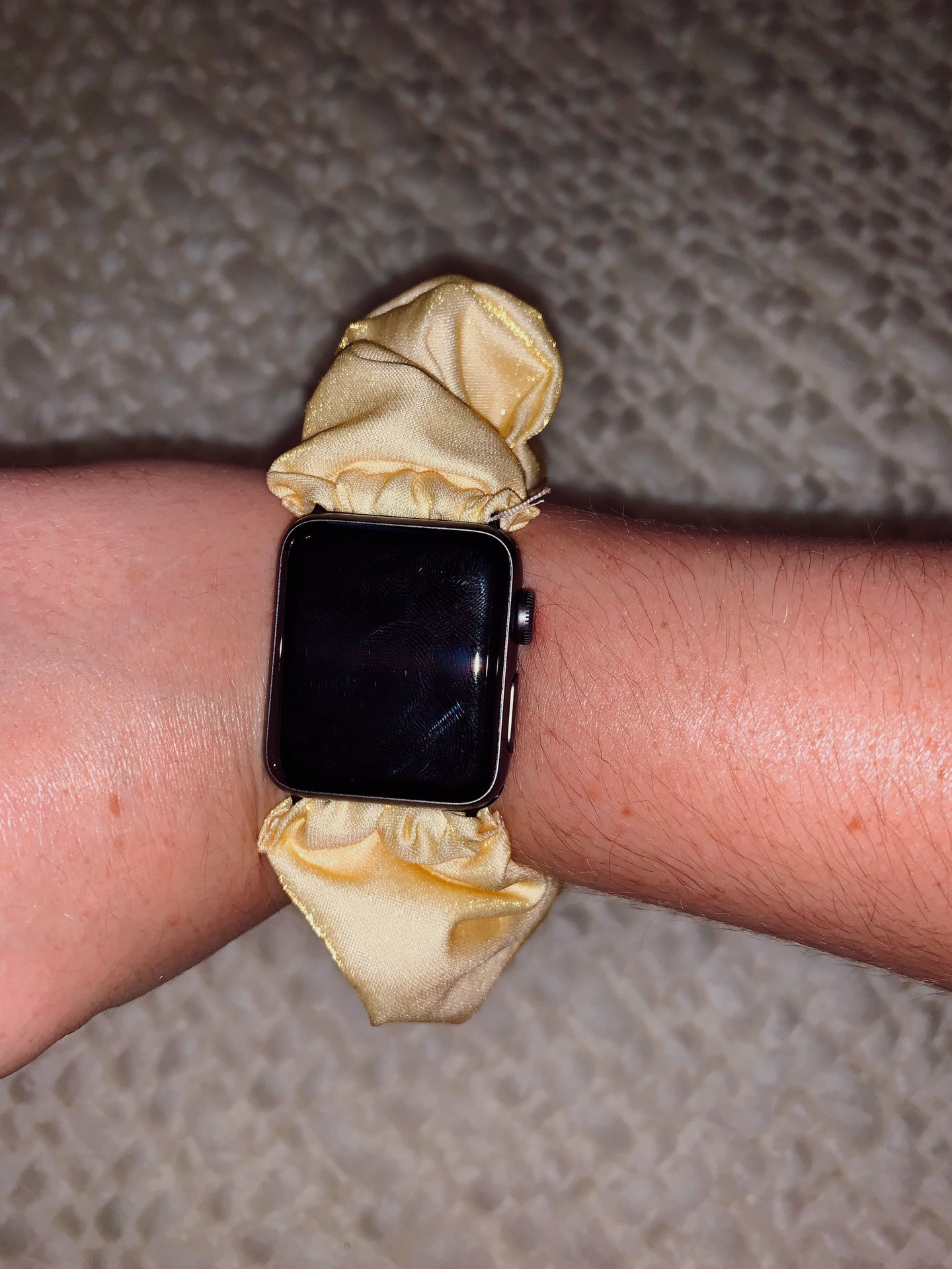 Scrunchie Apple Watch Band in Good as Gold