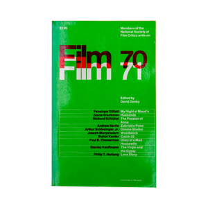 FILM 70/71 (1971) <br> An Anthology by the National Society of Film Critics <br> Out of Print