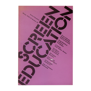 PERIODICAL: SCREEN EDUCATION <br> (1972-79)